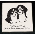 Personalized trivet / hot plate with custom engraved working dog design and text.