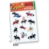 3-D Crystal Effect Stickers - Horse and Rider