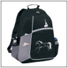 Running horse design black and grey backpack. Makes a great equestrian gift.