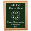 Engraved Alder Plaque & Plate with 4-H Logo