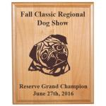 Custom Engraved Alder Award Plaque - Dog Designs 8