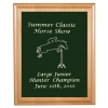 Custom Engraved Alder Plaque & Plate with Horse Design
