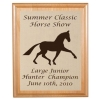 Engraved Alder Plaque & Plate - Horse Design 2