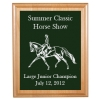 Engraved Alder Plaque & Plate - Horse Design 3