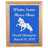 Engraved Alder Plaque & Plate - Horse Design 4