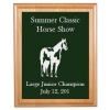 Engraved Alder Plaque & Plate - Horse Design 5