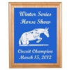 Engraved Alder Plaque & Plate - Horse Design 6
