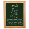 Custom Engraved Pet Memorial Alder Plaque & Plate - Cat Design