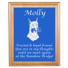 Engraved Pet Memorial Alder Plaque & Plate - Doberman Design