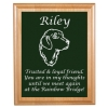 Custom Engraved Pet Memorial Alder Plaque & Plate - Golden Retriever Design