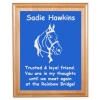 Custom Engraved Pet Memorial Alder Plaque & Plate - Horse Design 4