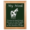 Custom Engraved Pet Memorial Alder Plaque & Plate - Horse Design 5