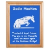 Custom Engraved Pet Memorial Alder Plaque & Plate - Horse Design 6