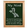 Custom Engraved Pet Memorial Alder Plaque & Plate - Horse Design 7