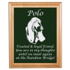Engraved Pet Memorial Alder Plaque & Plate - Hound Dog Design