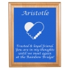 Engraved Pet Memorial Alder Plaque & Plate - Heart Design