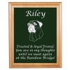 Pet Memorial Alder Plaque & Plate with Working Dog Design