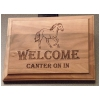 Genuine Walnut Sign - Horse Design
