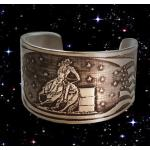 American Quarter horse barrel racing pewter cuff bracelet.