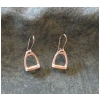 English Stirrup Pewter Earrings