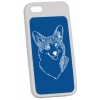 Personalized iPhone 5 / 5S case with custom engraved Welsh Corgi dog design and engraved text.