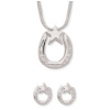 Horseshoe & Star Necklace & Earring Set - Horse Jewelry.