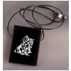 Large Black Onyx Engraved Pendant - Horse Design 3