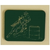 Barrel Racing Horse Magnet - Plastic