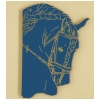 Friesian Head Horse  - Plastic