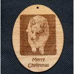 Wood Christmas Ornament with Engraved Photo / Image / Picture