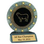 All Star Resin Trophy - Farm Animal Design