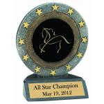 All Star Resin Trophy with Engraved Horse Design 2 and Text