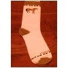 Checkered Horse Sock - Adult - Equestrian Apparel Horse Sock.
