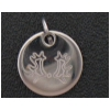 Engraved Sterling Silver Charm Necklace - Horse Design