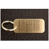 Rectangular Key Chain - Thoroughbred Tattoo Age Chart