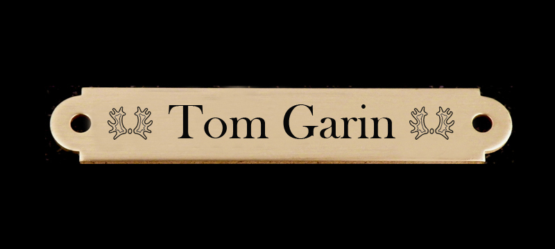 Engraved Brass or Silver Bridle Nameplate - Breed Logo