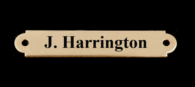 Custom Engraved Brass Martingale Plate
