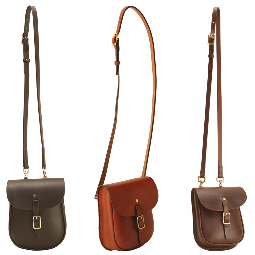 Leather Equestrian Sandwich Sling Bag