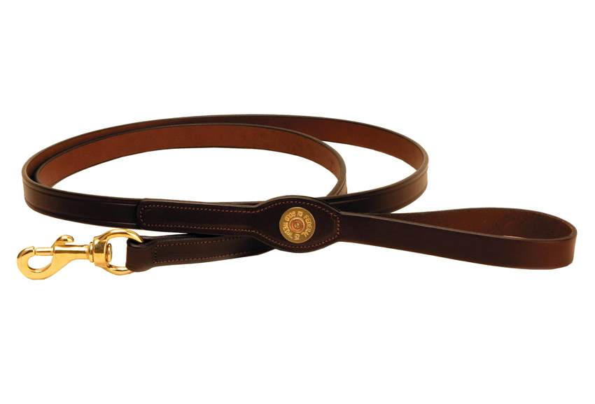 Shot Shell Leather Dog Leash from Tory Leather.