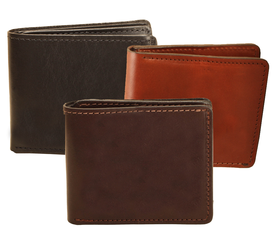 Bridle leather bi-fold equestrian wallet with removable ID window from Tory Leather.