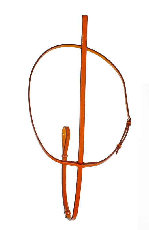 Leather Edgewood flat standing martingale.