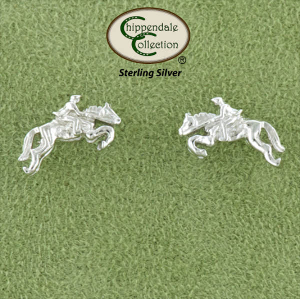 Jumper And Rider Earrings - Horse Jewelry