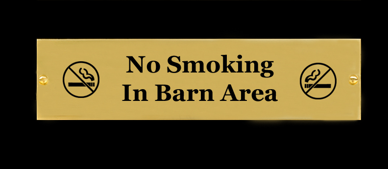 No Smoking Brass Sign