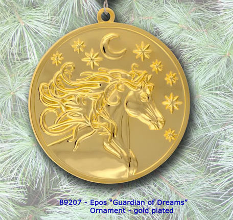 Celestial Goddess Equestrian Ornament - Gold