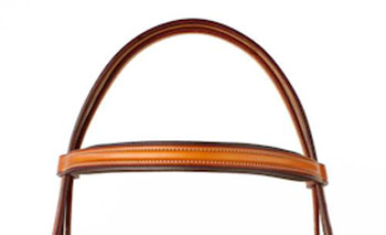 Edgewood leather bridle padded crown piece.