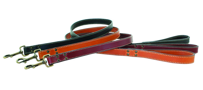Heirloom full grain bridle leather dog leash.