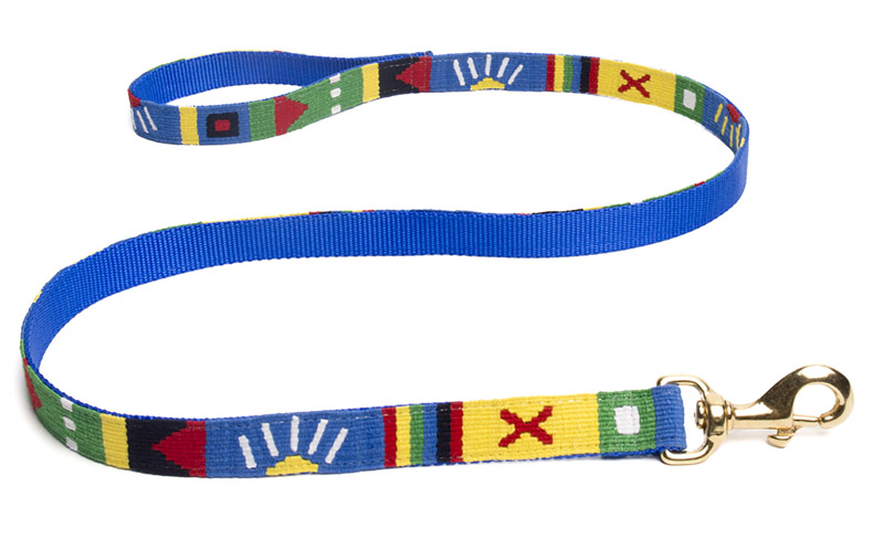 A Tail We Could Wag woven fabric dog leash. Many colors to choose from.