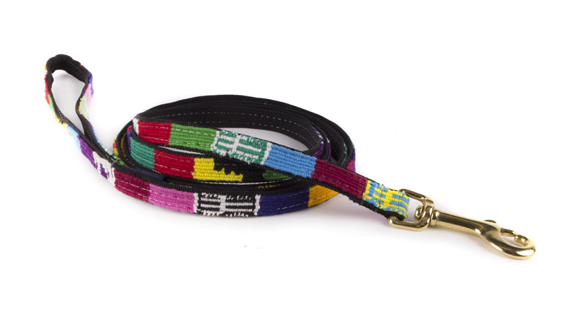 Narrow A Tail We Could Wag woven fabric side release dog leash. Many colors to choose from.