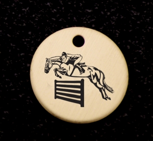 Engraved Brass Bridle Charm - Horse Design 3