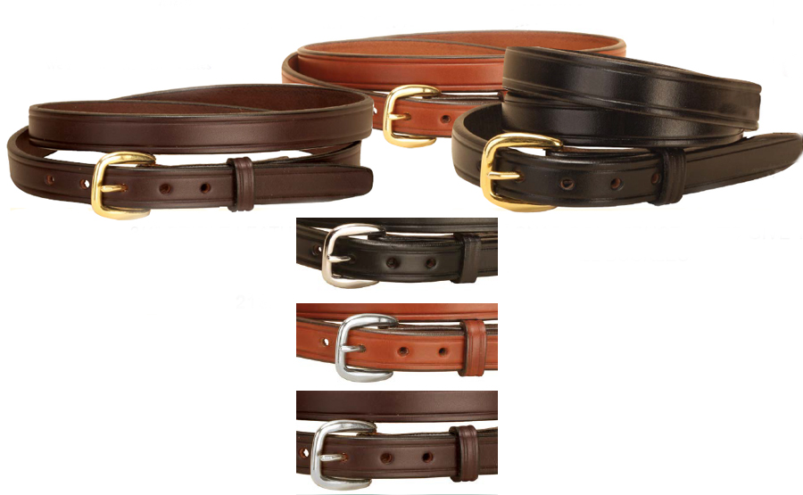 Classic leather belt with your choice of leather color and buckle type. Equestrian Leather Belt